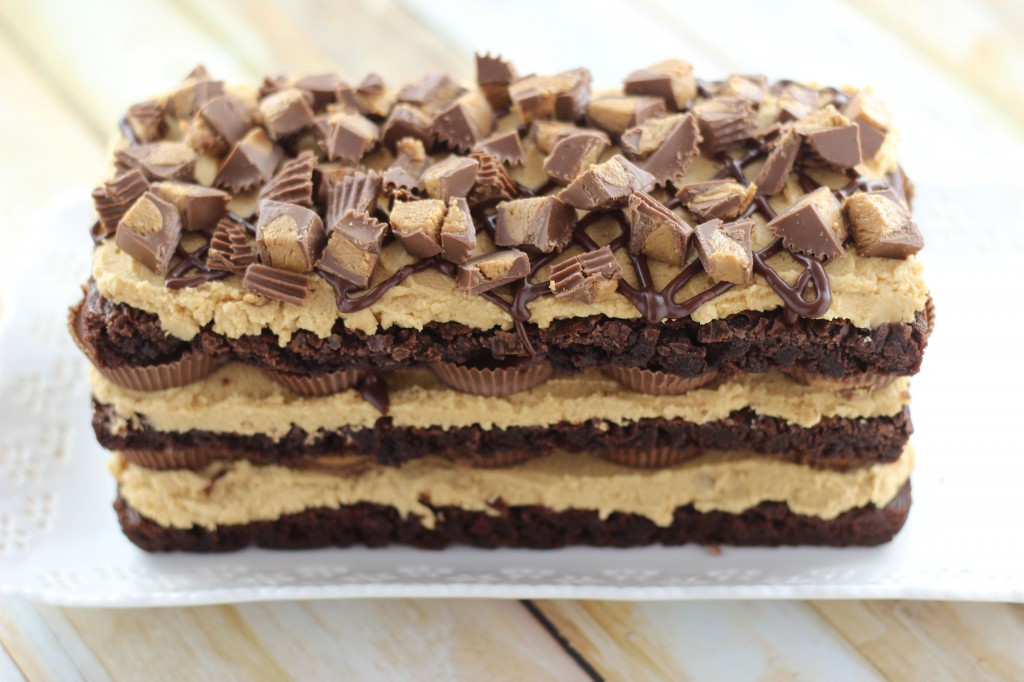 peanut butter cup brownie torte 4