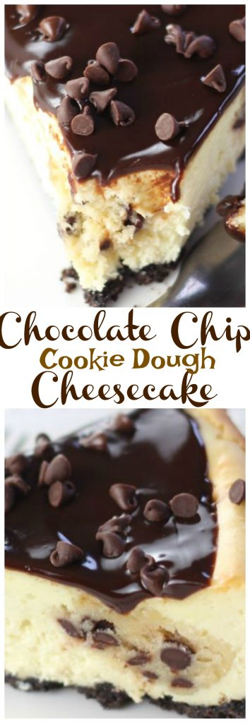 Chocolate Chip Cookie Dough Cheesecake pin