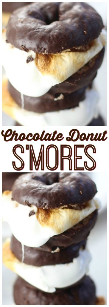 Chocolate Donut S'mores pin