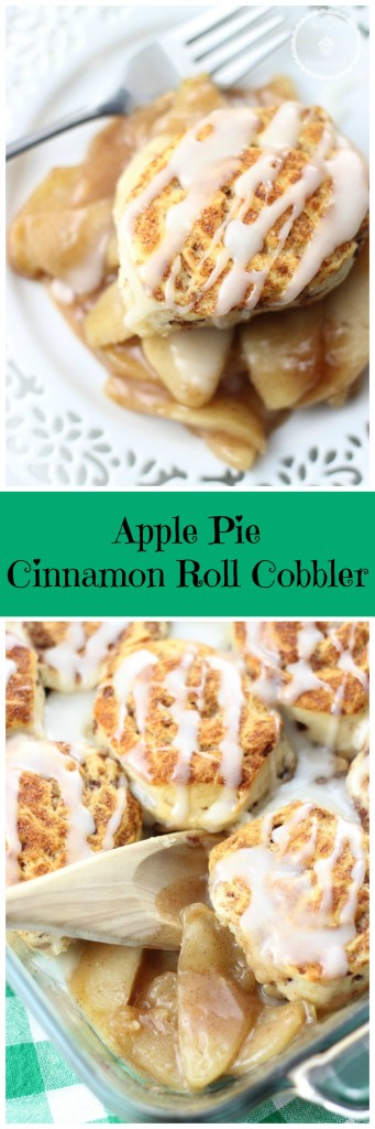 apple pie cinnamon roll cobbler pin