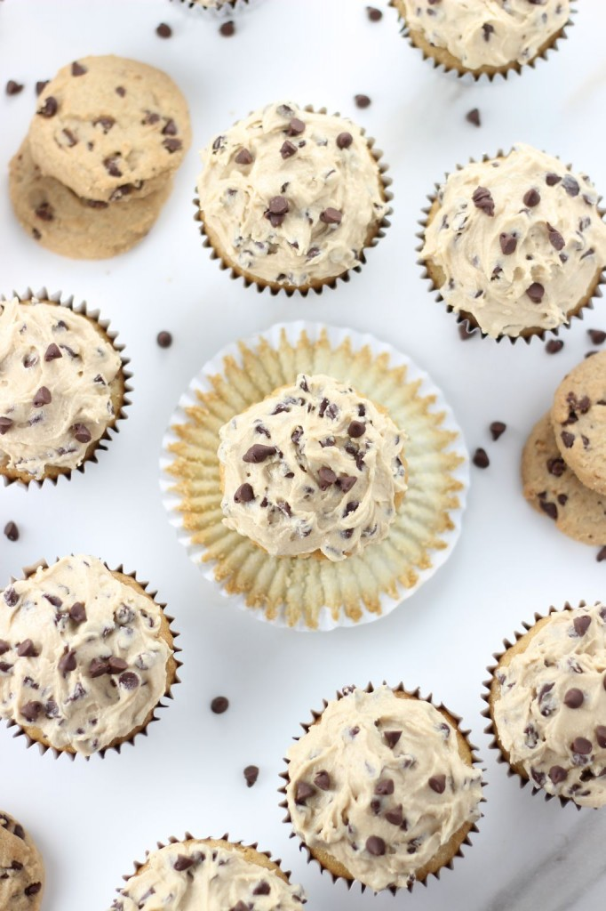 chocolate chip cookie dough cupcakes 10