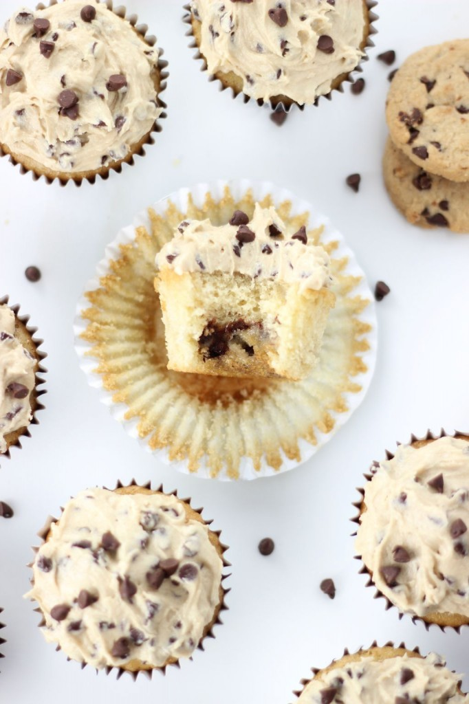 chocolate chip cookie dough cupcakes 13