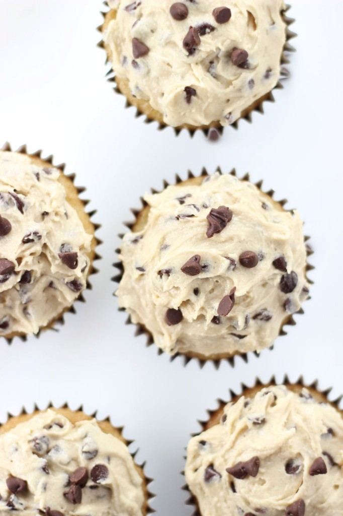 chocolate chip cookie dough cupcakes 21
