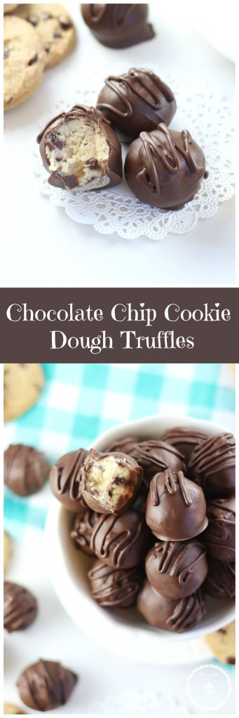 chocolate chip cookie dough truffles pin