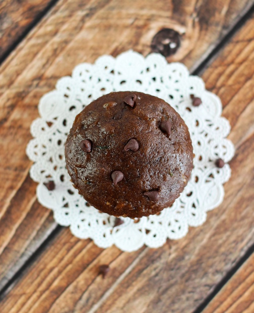 chocolate zucchini muffins 10
