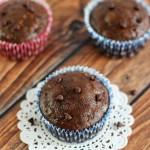 Chocolate Zucchini Muffins with Chocolate Chips