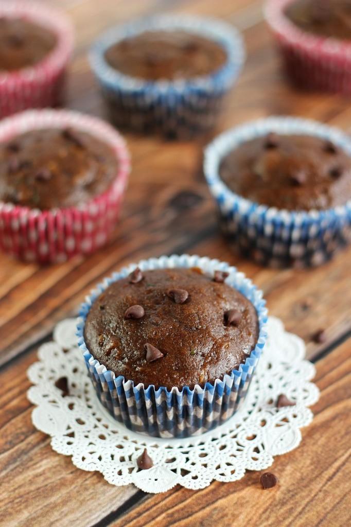 chocolate zucchini muffins 8