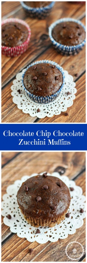 chocolate zucchini muffins pin