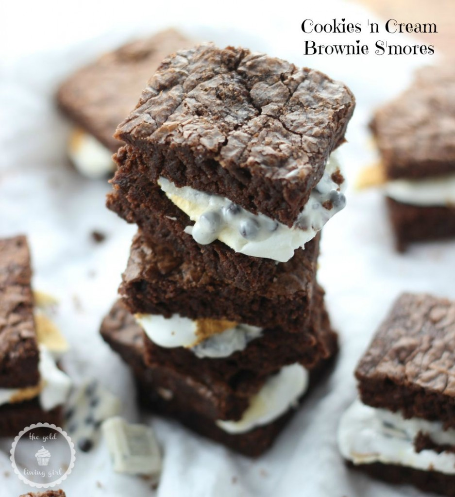 Cookies 'n Cream Brownie S'mores by The Gold Lining Girl