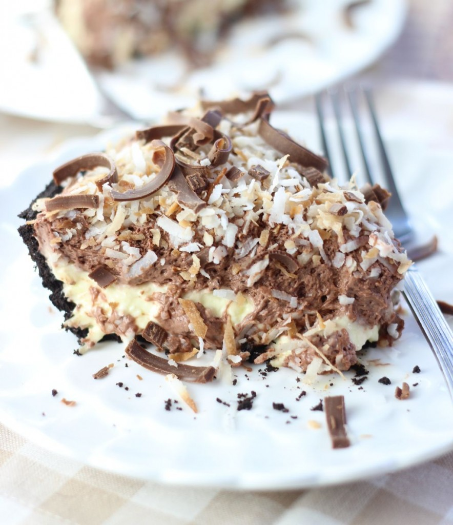 no bake chocolate coconut cream pie 22