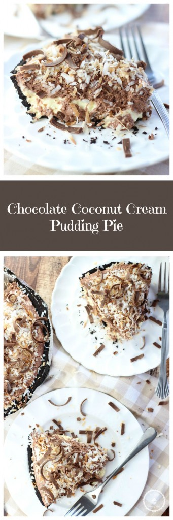 no bake chocolate coconut cream pie pin