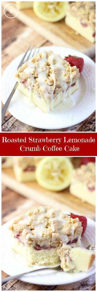 roasted strawberry lemonade crumb coffee cake pin