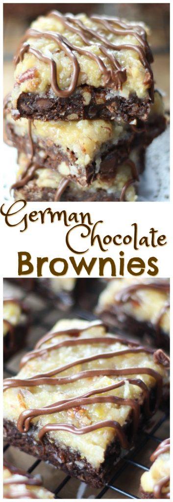 German Chocolate Brownies pin 1