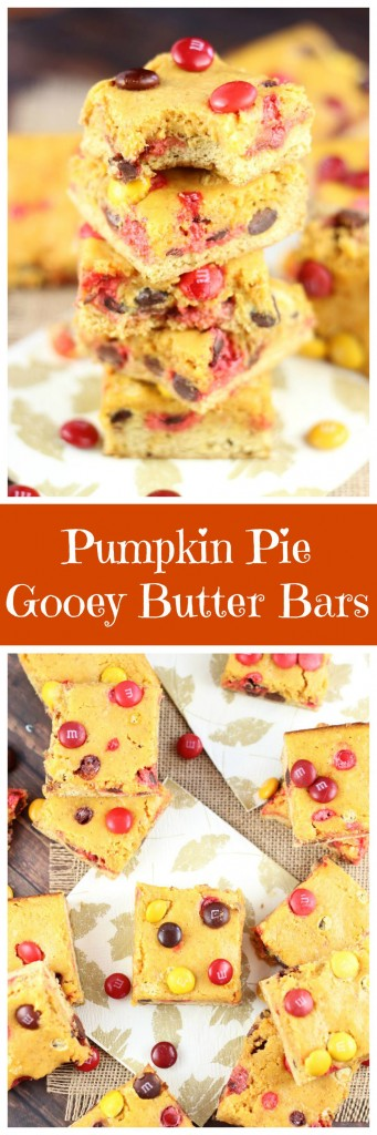 Pumpkin Pie Gooey Butter Bars pin