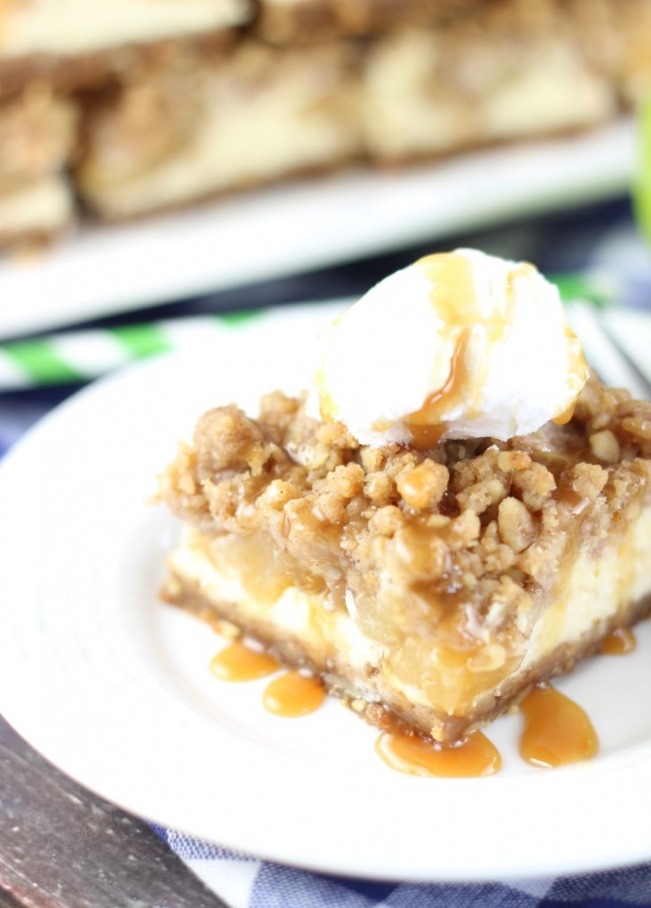 apple cheesecake streusel bars with gingersnap walnut crust 11