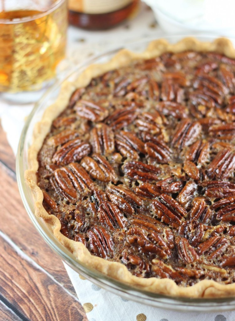 brown butter bourbon pecan pie with bourbon whipped cream 2