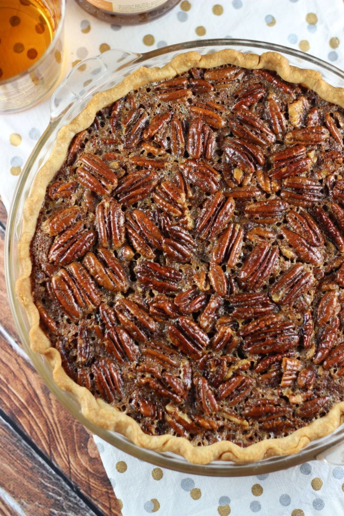brown butter bourbon pecan pie with bourbon whipped cream 5