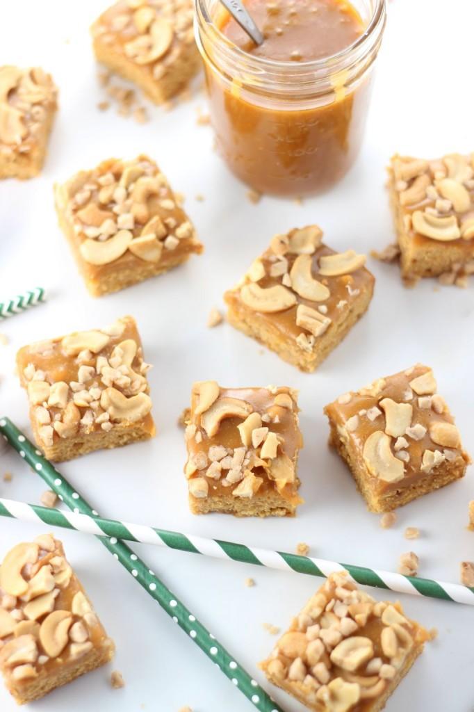 butterscotch cashew bars with butterscotch caramel 8
