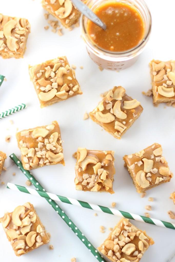 butterscotch cashew bars with butterscotch caramel 9
