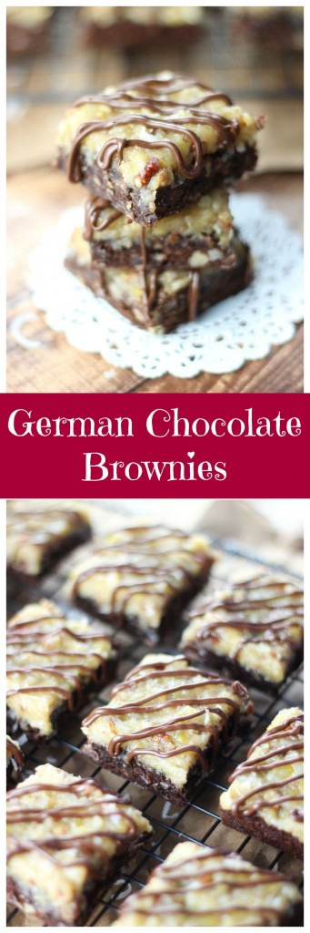 german chocolate brownies pin