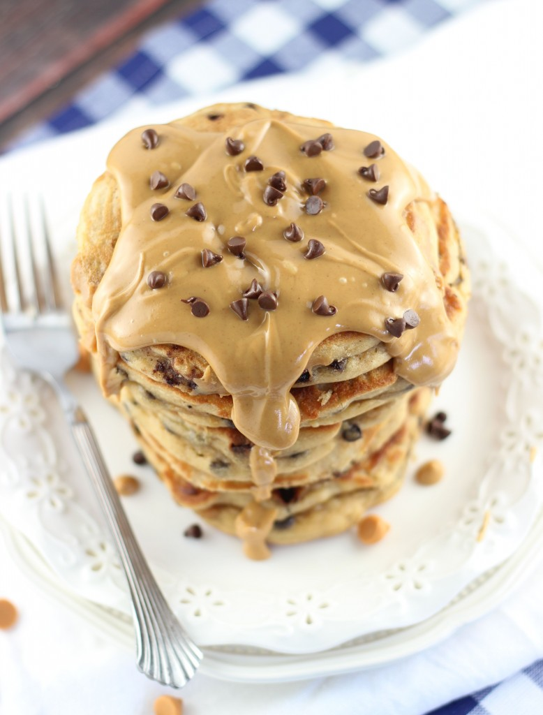 peanut butter chocolate chip pancakes 3