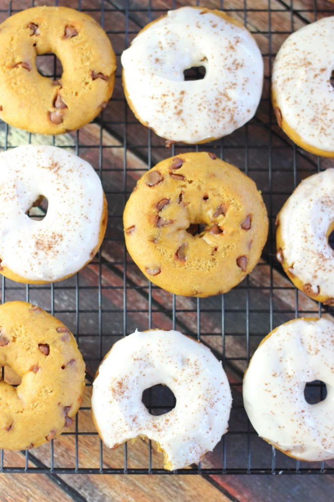 pumpkin cinnamon chip cake donuts with maple cream cheese icing 18