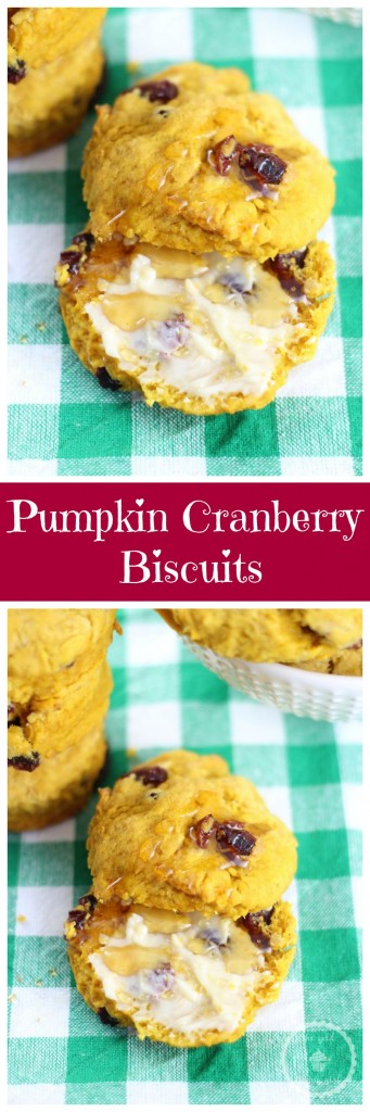 pumpkin cranberry biscuits pin