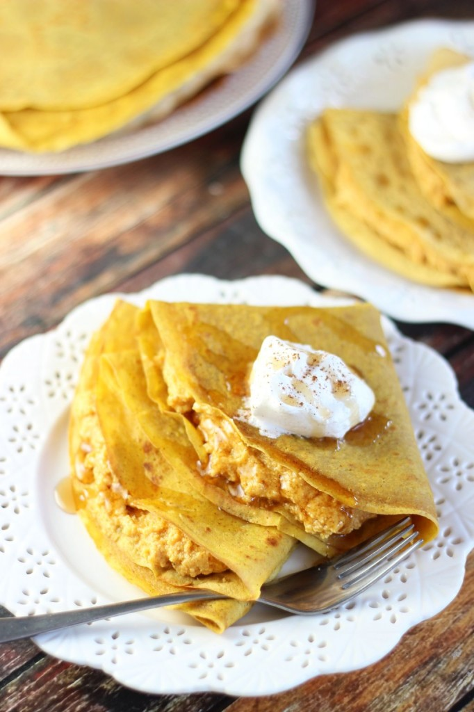 pumpkin crepes with pumpkin cheesecake filling (1)