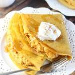 Pumpkin Crepes with Pumpkin Cheesecake Filling