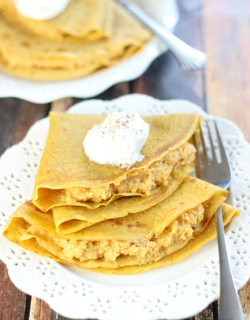 pumpkin crepes with pumpkin cheesecake filling (3)