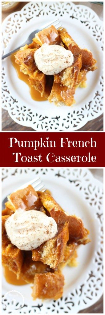pumpkin french toast casserole pin