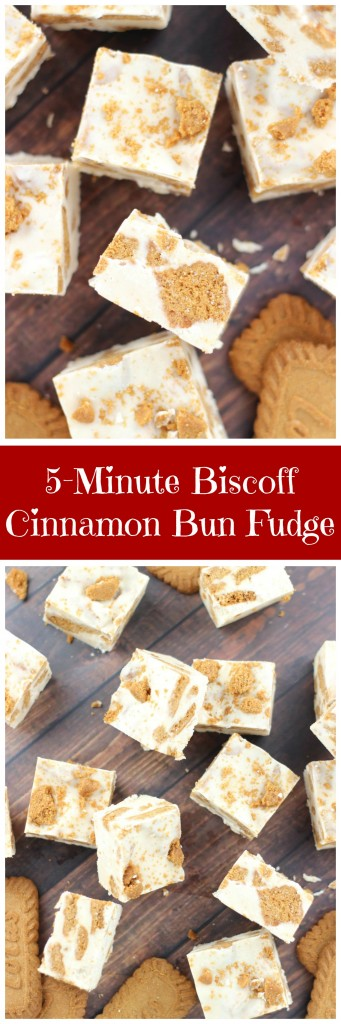 5-minute biscoff cinnamon bun fudge pin