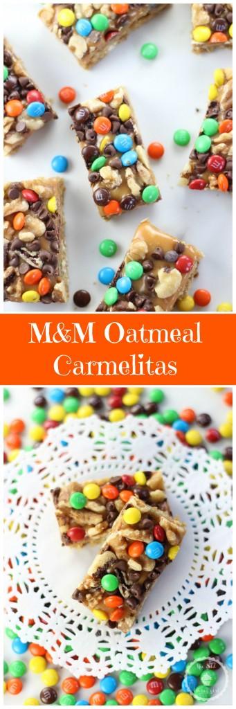 M&M oatmeal carmelitas pin