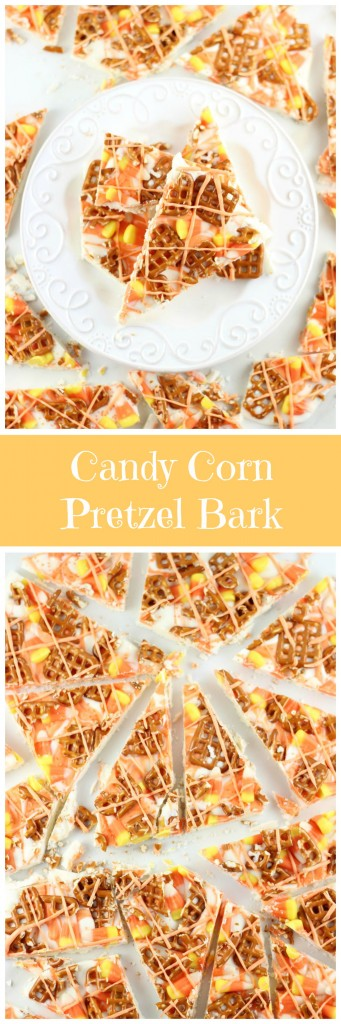 candy corn pretzel bark pin
