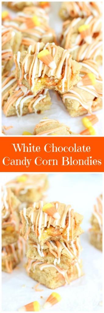 candy corn white chocolate blondies 24