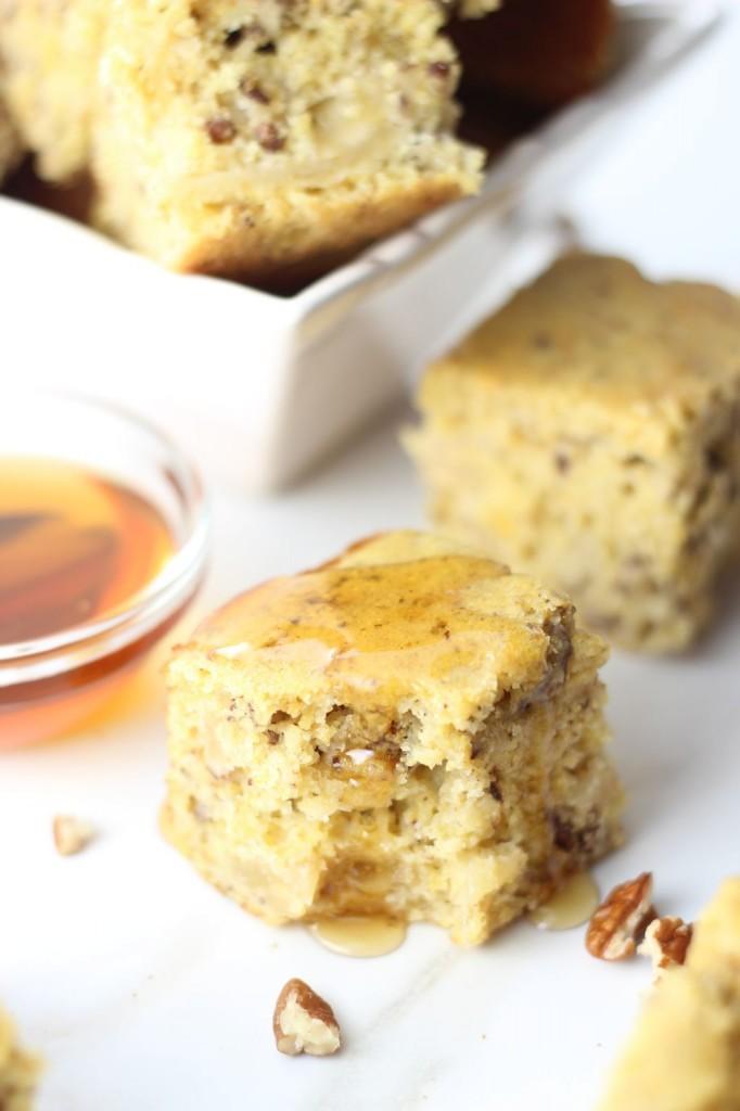 caramelized apple & pecan cornbread 12
