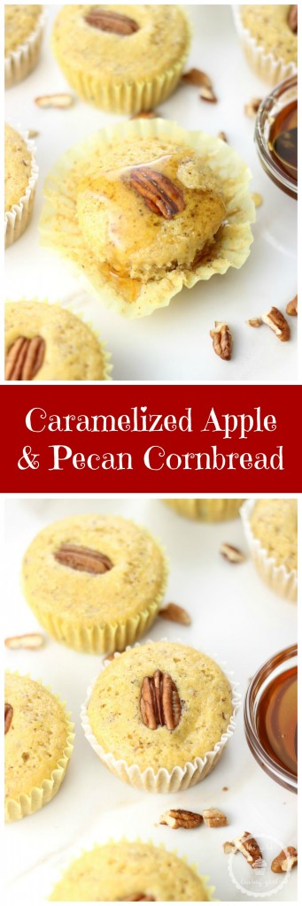 caramelized apple & pecan cornbread pin