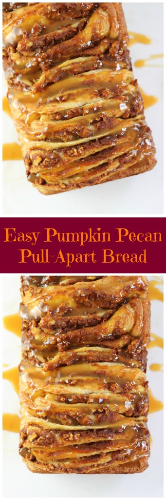 easy pumpkin pecan pull apart bread pin