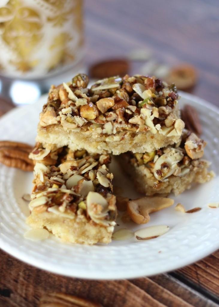 honey nut shortbread bars 26