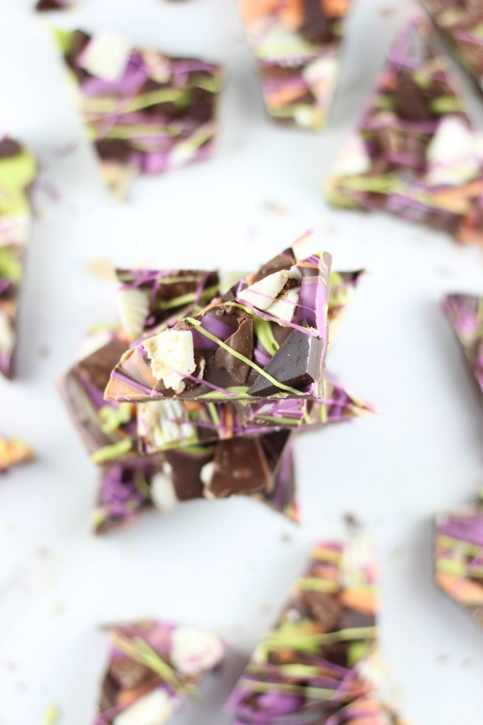 leftover halloween candy bark 30