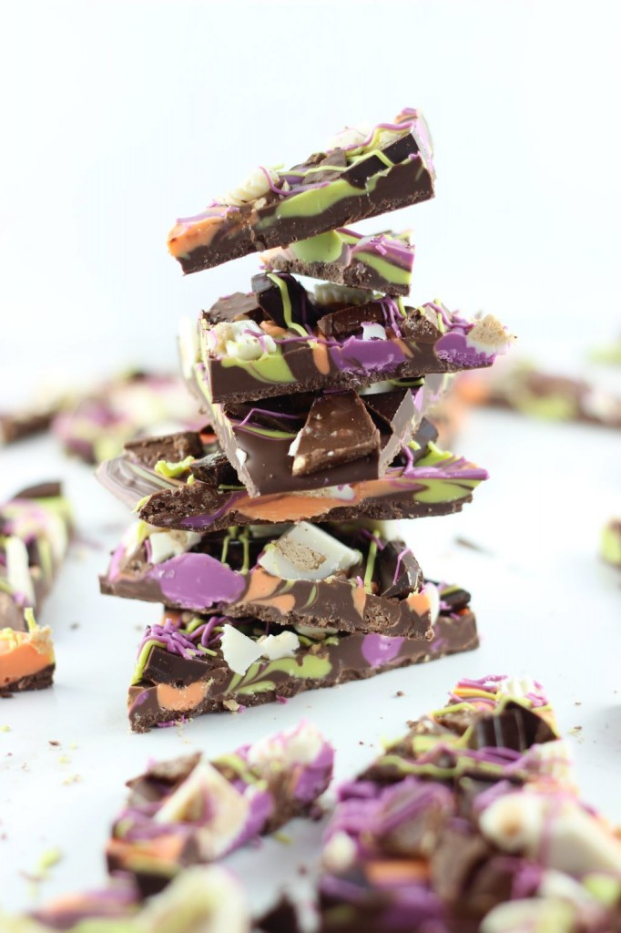 leftover halloween candy bark 35