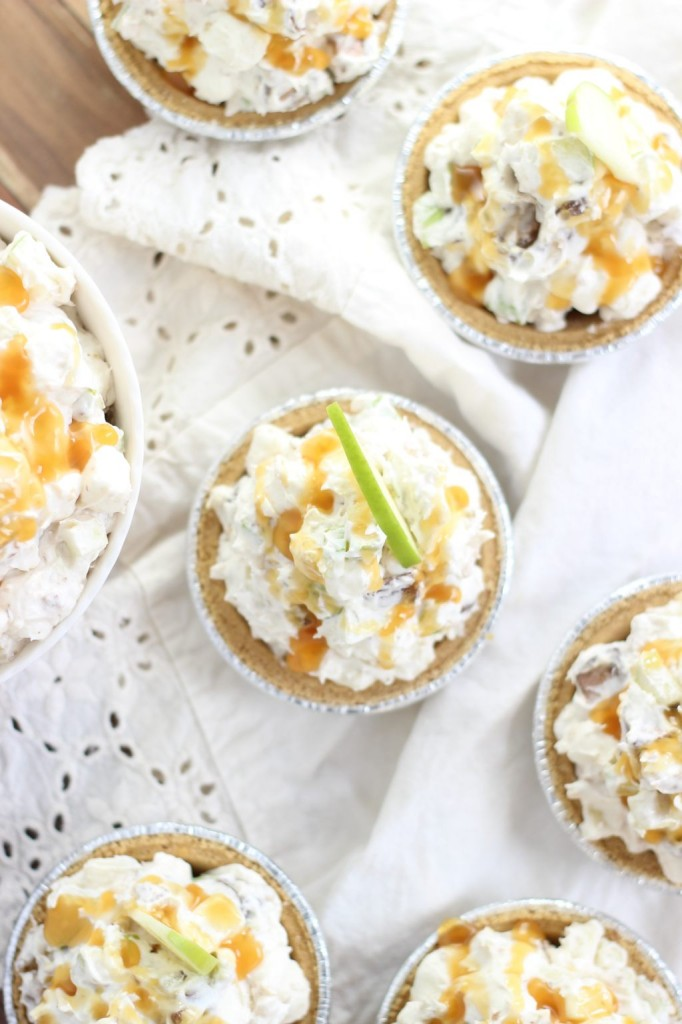 mini no bake caramel apple pies 9