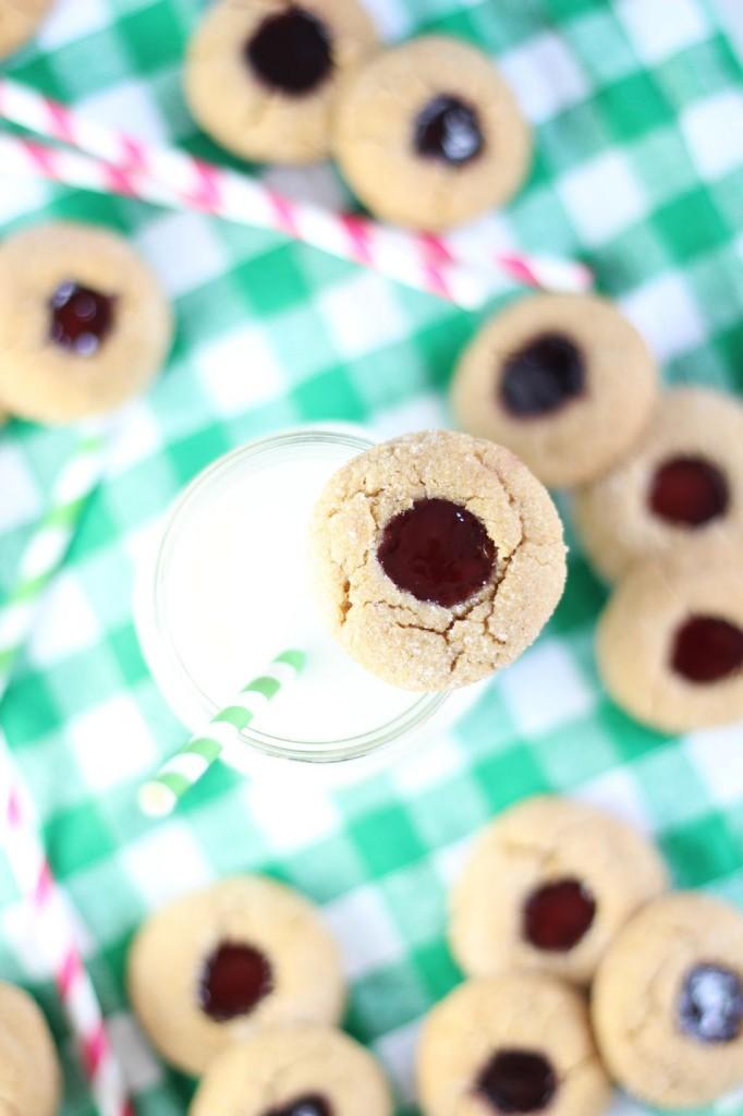 peanut butter & jelly thumbprints 10