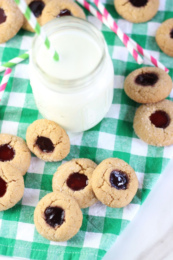 peanut butter & jelly thumbprints 16