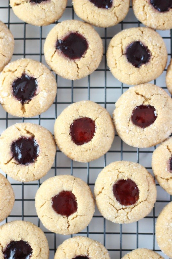 peanut butter & jelly thumbprints 4