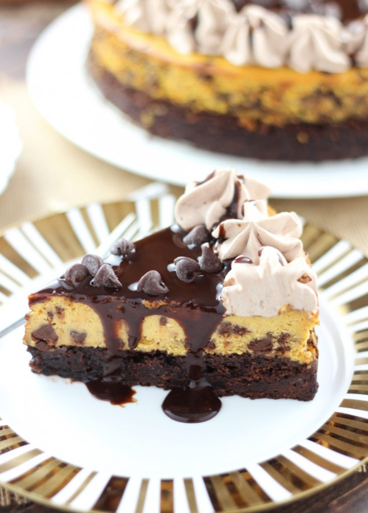 pumpkin chocolate chip brownie cheesecake 18