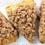 pumpkin pecan scones with brown sugar streusel 10