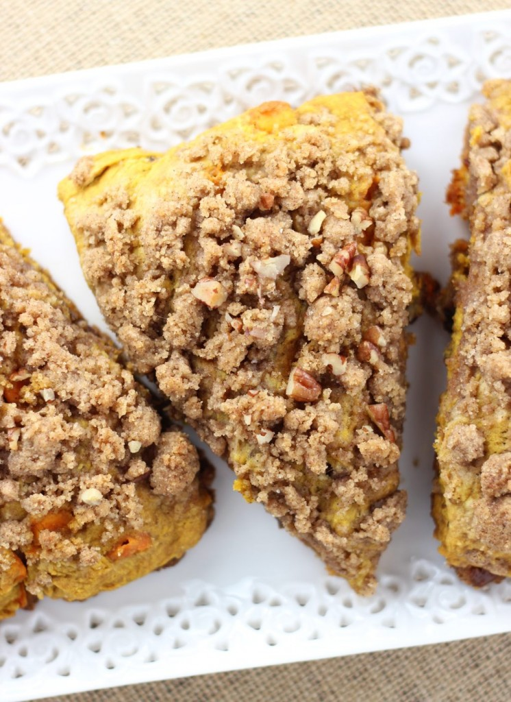 pumpkin pecan scones with brown sugar streusel 10