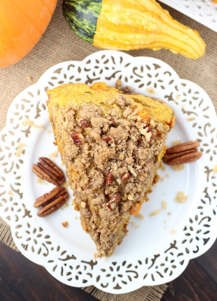 pumpkin pecan scones with brown sugar streusel 13
