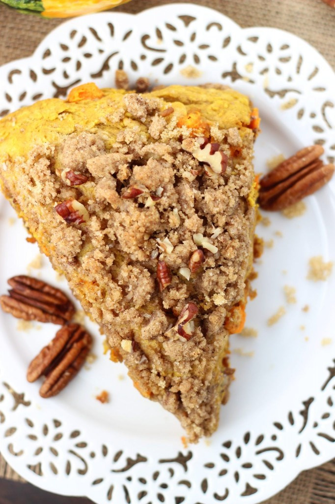 pumpkin pecan scones with brown sugar streusel 14